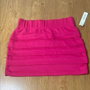 Pink Bodycon Mini Skirt Size Large Brand New